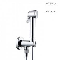 Applique avec douchette WC Chrome  - CRISTINA ONDYNA - WC69051