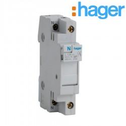 Coupe-circuit 1P+N 20A 400V domestique 1M -   HAGER L12601