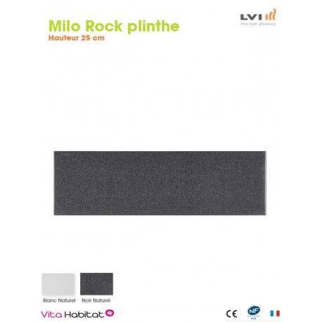 Radiateur electrique MILO Rock Plinthe (haut.250) Noir 470W - LVI 2025121