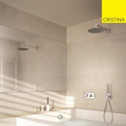 Pack de douche premium encastré chromé TRIVERDE - CRISTINA ONDYNA XTV6110