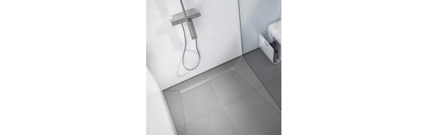 Évacuation pour douche à l'italienne