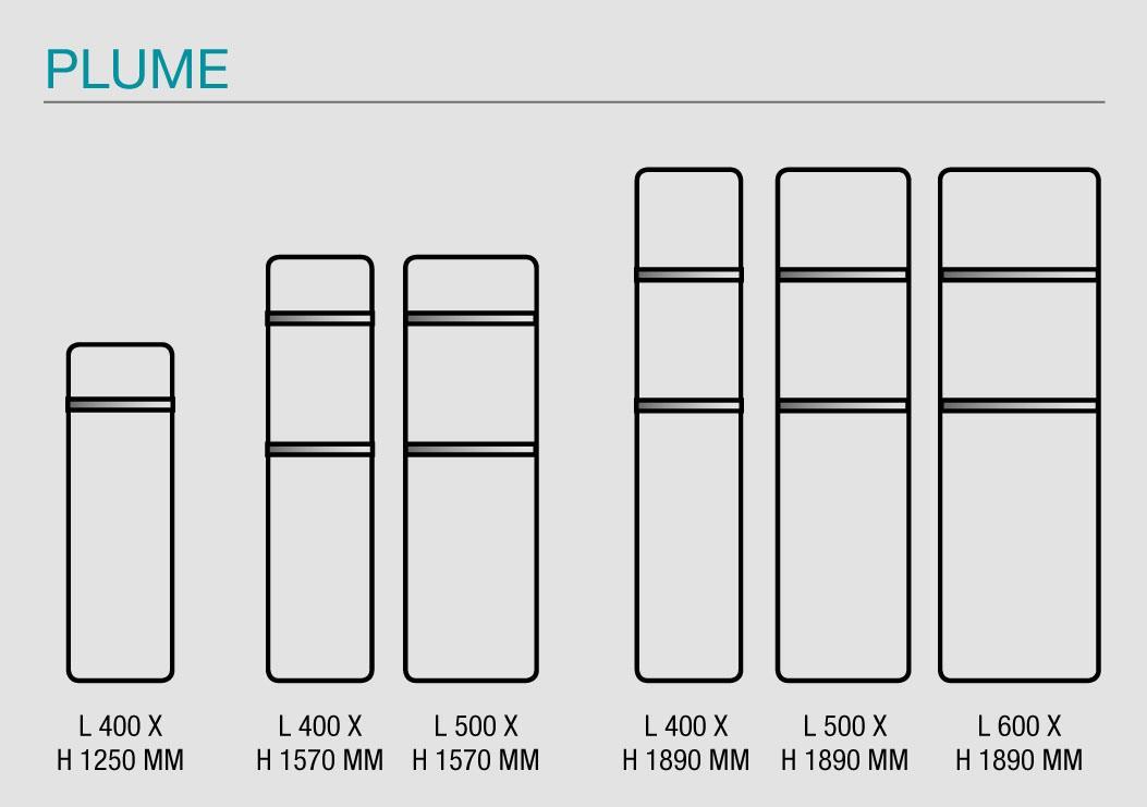 dimensions acova plume