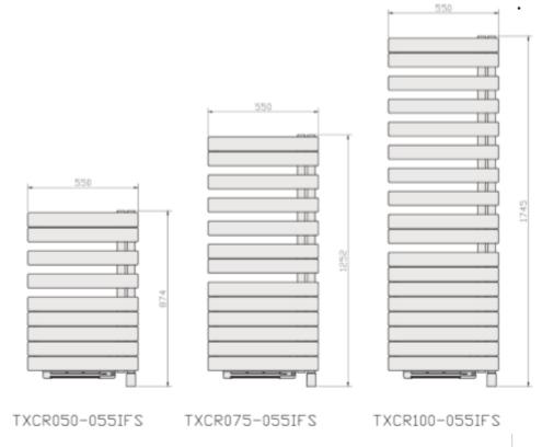 Dimensions TXCR