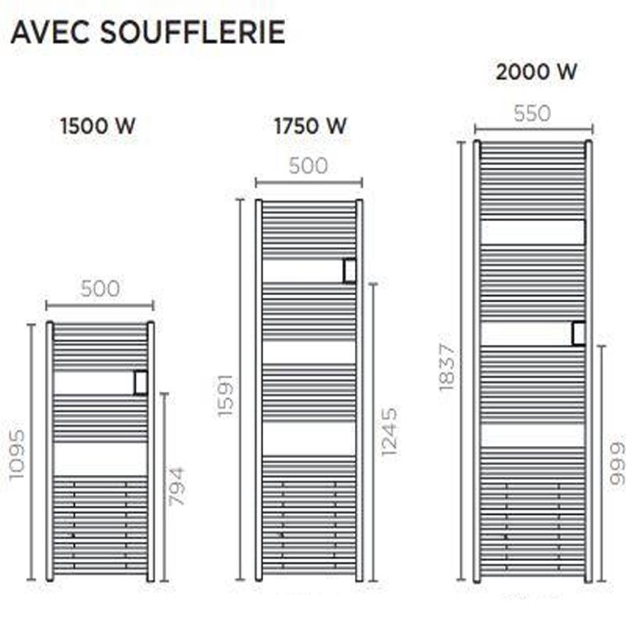 Sèche-serviettes mixte 20W (20W+20W) RIVA 20 soufflant - THERMOR