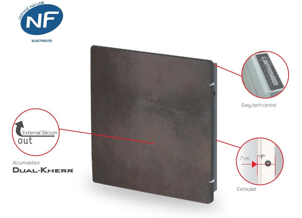 Radiateur electrique smart stone horizontal 2000w terre lunaire valderoma tl2 ebay - Radiateur electrique performant ...