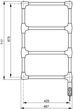 Sèche-serviette ACOVA - NAVY électrique 150W TNAV-015-047 - Vita Habitat 0818e159e38f